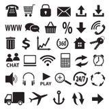 Een reeks pictogrammen. Stock Afbeeldingen