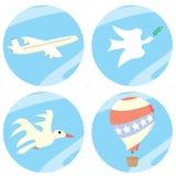 Een reeks pictogrammen in de hemel. royalty-vrije illustratie