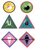Een reeks pictogrammen met huisdieren Stock Foto
