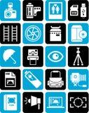 Pictogrammen voor fotografie Stock Afbeelding
