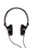 Zwarte regelbare hoofdtelefoons   Royalty-vrije Stock Foto