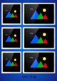 Een reeks Retro realistische fotokaders vector illustratie