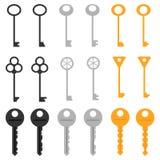 Een reeks sleutels Royalty-vrije Stock Afbeelding