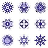 Een reeks sneeuwvlokken Vector illustratie Royalty-vrije Stock Afbeeldingen
