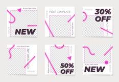 Een reeks sociale media post malplaatjes Voor persoonlijke en bedrijfsrekeningen vector illustratie
