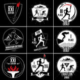 Een reeks Sportenemblemen, emblemen en ontwerpelementen Royalty-vrije Stock Foto's
