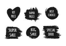 Een reeks stickers met de tekst Hete Prijs, Beste Speciale Keus, Stock Foto's