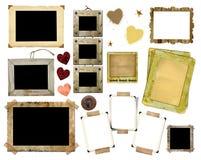 Een reeks uitstekende fotoframes Royalty-vrije Stock Fotografie