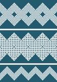 Een reeks van 3 Aziatisch of In Keltische stijl knoop naadloos grens of patroon Royalty-vrije Stock Afbeeldingen