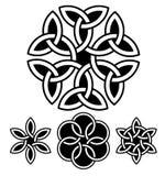 Een reeks van bloem-als knopen vectorillustratie Royalty-vrije Stock Foto's
