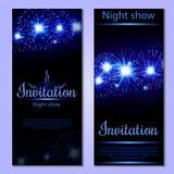 Een reeks van 2 brochures van feestelijk ontwerp De kaart van de uitnodiging _1 vector illustratie