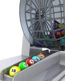 Een reeks van colouored bingoballen Stock Afbeeldingen