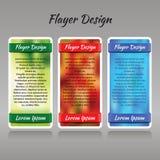 Een reeks van drie kleurrijke patronen met vage achtergrond voor pri Stock Afbeelding