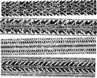 Een reeks van 4 gedetailleerde banddrukken voor uw ontwerp Vectorillustra royalty-vrije illustratie