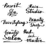 Een reeks van het mooie van letters voorzien vector illustratie