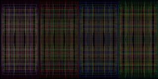Een reeks van netwerk kleurde texturen van draad worden gemaakt stof te verfraaien die royalty-vrije illustratie
