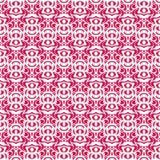 Een reeks van roze naadloze textuur met kleine cirkels Stock Foto's