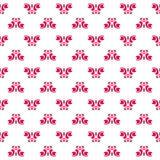 Een reeks van roze naadloze textuur met kleine cirkels Stock Afbeeldingen