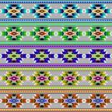 Een reeks van stammen naadloos kleurrijk geometrisch patroon vector illustratie
