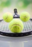 Een reeks van tennis Racket en racket Ball Royalty-vrije Stock Afbeelding