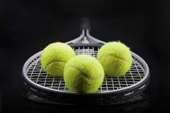 Een reeks van tennis Racket en racket Ball Royalty-vrije Stock Fotografie