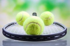 Een reeks van tennis Racket en racket Ball Stock Foto