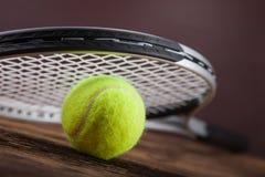 Een reeks van tennis Racket en racket Ball Stock Foto's