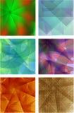 Een reeks van 6 volledig-kleurenachtergronden Royalty-vrije Stock Foto's