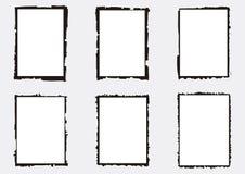 Een reeks vectorized grungy fotografiekaders stock illustratie