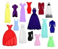 Een reeks verschillende kleding Stock Afbeeldingen