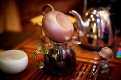 Een reeks voor theeceremonie stock foto