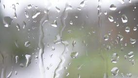 Een regenachtige dag stock footage
