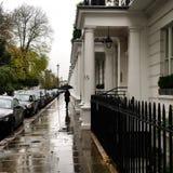 Een regenachtige dag in de Stad van Londen Stock Afbeelding