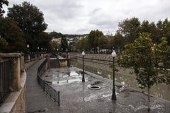 Een regenachtige dag in Granada, Spanje Stock Foto's