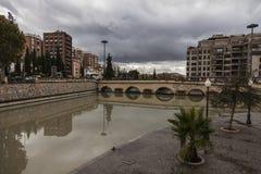 Een regenachtige dag in Granada, Spanje Royalty-vrije Stock Afbeeldingen