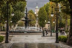 Een regenachtige dag in Granada, Spanje Stock Afbeelding