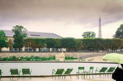 Een regenachtige dag in Parijs Royalty-vrije Stock Foto
