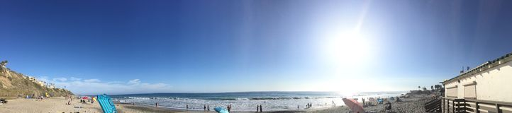 Een reis bij San Clemente State Beach Royalty-vrije Stock Foto's