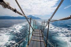 Een reis om Athos, Chalkidikki, Griekenland op te zetten stock afbeeldingen