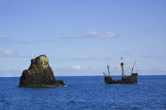 Een replica van schip Santa Maria Stock Foto