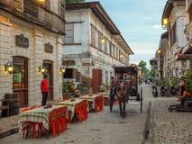 Een restaurant in Historische Stad van Vigan Royalty-vrije Stock Afbeelding