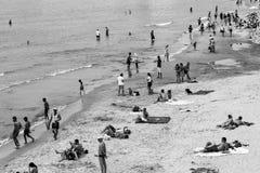 Een retro foto van het de zomerzeegezicht stock fotografie