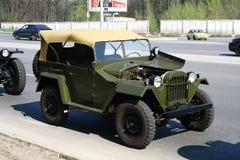 Een retro off-road voertuig Stock Fotografie
