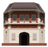 Een reusachtig gebouw royalty-vrije illustratie