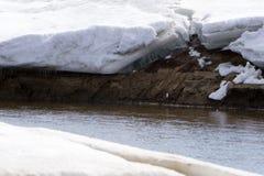 Een reusachtige stapel die van ijs op gletsjer Twee van de vier reeksen instorten royalty-vrije stock afbeelding