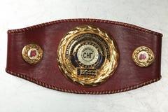 Een riem van de kampioen bij het In dozen doen royalty-vrije stock afbeelding