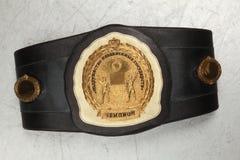 Een riem van de kampioen bij het In dozen doen royalty-vrije stock fotografie
