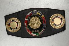 Een riem van de kampioen in het In dozen doen WBC royalty-vrije stock afbeelding