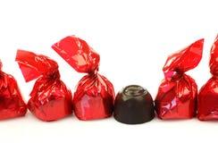 Een rij van bonbons Stock Afbeelding