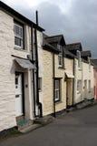 Een rij van huizen in Cornwall Stock Afbeelding